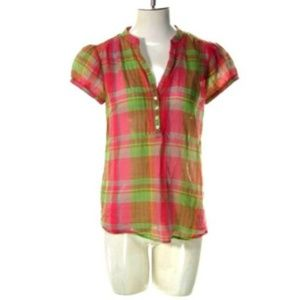 Old Navy Womens Small Half Button Blouse Top